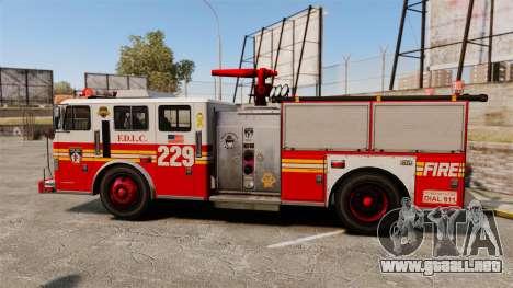 Fire Truck v1.4A FDLC [ELS] para GTA 4 left