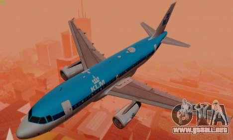 Airbus A319 KLM para el motor de GTA San Andreas
