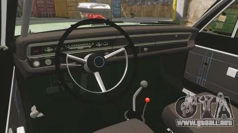 Dodge Dart 1968 para GTA 4 vista interior