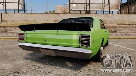Dodge Dart 1968 para GTA 4 Vista posterior izquierda