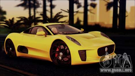 Jaguar C-X75 para la visión correcta GTA San Andreas