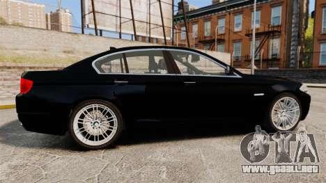 BMW M5 F10 2012 Unmarked Police [ELS] para GTA 4 left