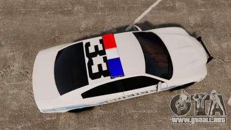 Dodge Charger 2013 Liberty Police [ELS] para GTA 4 visión correcta