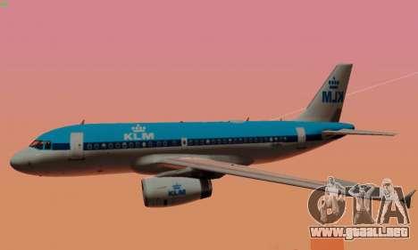 Airbus A319 KLM para las ruedas de GTA San Andreas