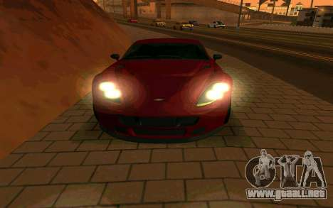 GTA V Dewbauchee Rapid GT Coupe para GTA San Andreas vista hacia atrás