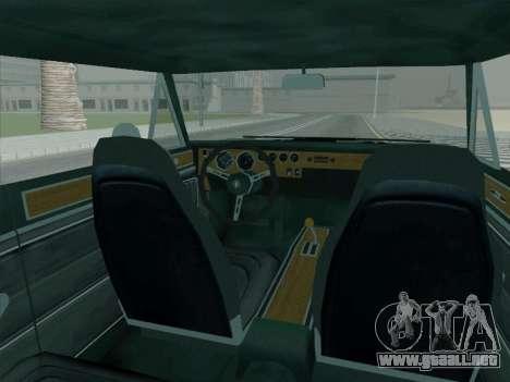 Plymouth Road RunneR GTX 1970 para GTA San Andreas vista hacia atrás
