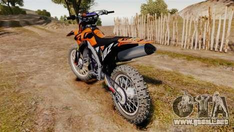 Kawasaki KX250F (KTM) para GTA 4 visión correcta