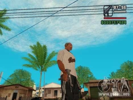 La subametralladora UZI para GTA San Andreas quinta pantalla