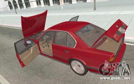 BMW M5 E34 1991 NA-spec para vista lateral GTA San Andreas