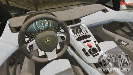 Lamborghini Aventador LP700-4 2012 Adidas Carbon para GTA 4 vista hacia atrás