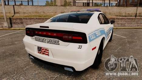 Dodge Charger 2013 Liberty Police [ELS] para GTA 4 Vista posterior izquierda