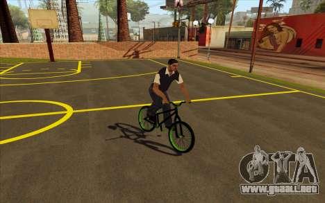 Street MTB bike para GTA San Andreas vista posterior izquierda