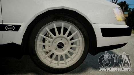 Audi 100 C4 1993 para GTA 4 Vista posterior izquierda