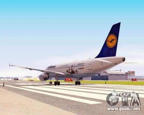 Airbus A320-200 Lufthansa para visión interna GTA San Andreas