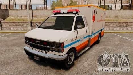 Brute LSMC Paramedic para GTA 4