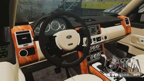 Range Rover Supercharger 2008 para GTA 4 vista interior