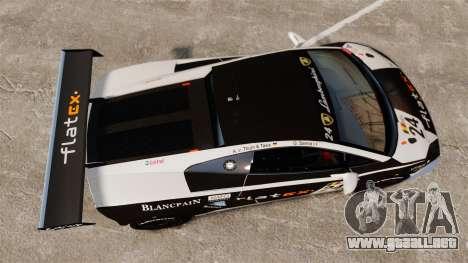 Lamborghini Gallardo LP560-4 GT3 2010 Flatex para GTA 4 visión correcta