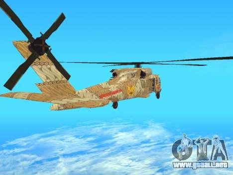 SH-60  Batik Indonesia para GTA San Andreas vista posterior izquierda