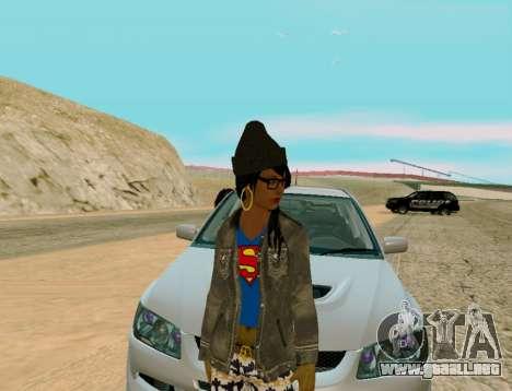 Girl Swagg para GTA San Andreas segunda pantalla