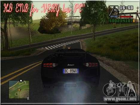 HD ENB for very low PC para GTA San Andreas sexta pantalla