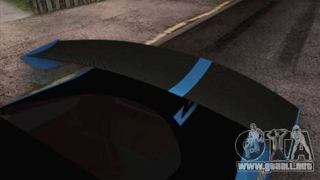 Dodge Viper SRT 10 ACR Police Car para GTA San Andreas vista hacia atrás