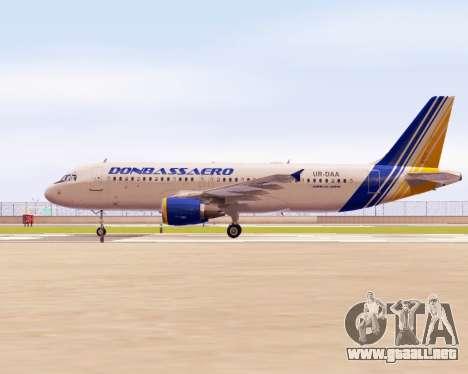 Airbus A320-200 Donbassaero para GTA San Andreas left