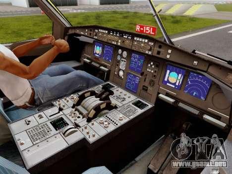 Airbus A340-600F DHL Buffalo para GTA San Andreas interior