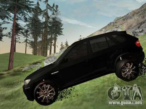 BMW X5M E70 2010 para la vista superior GTA San Andreas