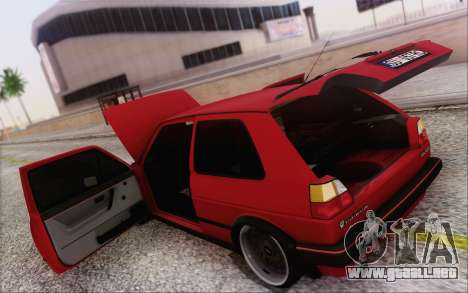 Volkswagen Golf Mk 2 para vista lateral GTA San Andreas