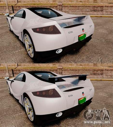 GTA Spano para GTA 4 vista desde abajo