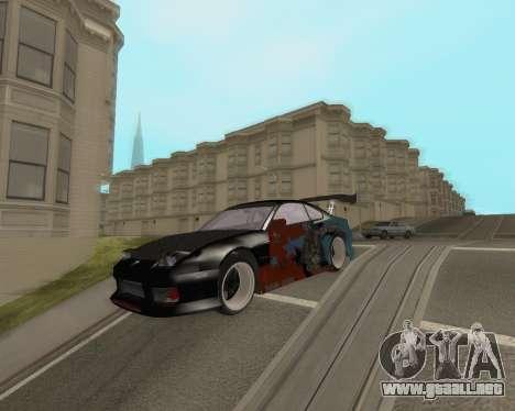 Nissan 150sx Evil Empire para GTA San Andreas vista posterior izquierda