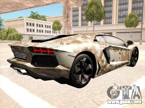 Lamborghini Aventador LP700-4 2013 para GTA San Andreas left