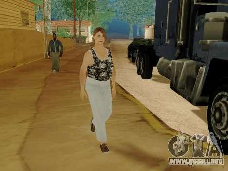 Una mujer de edad avanzada v.2 para GTA San Andreas décimo de pantalla