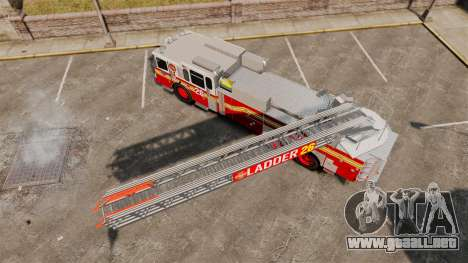 Ferrara 100 Aerial Ladder FDNY [working ladder] para GTA 4 visión correcta
