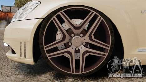 Mercedes-Benz S65 (W221) AMG para GTA 4 vista hacia atrás