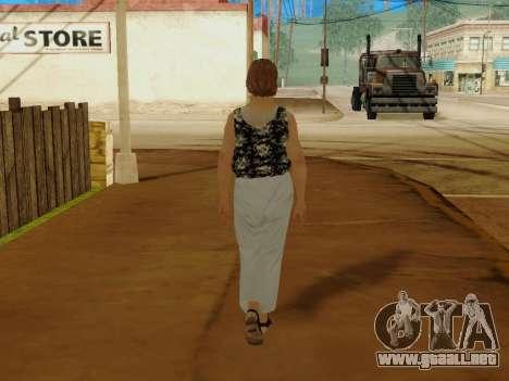 Una mujer de edad avanzada v.2 para GTA San Andreas octavo de pantalla
