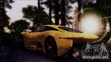 Jaguar C-X75 para GTA San Andreas left