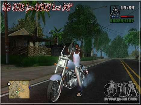 HD ENB for very low PC para GTA San Andreas quinta pantalla