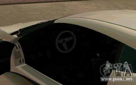 GTA V Dinka Jester para GTA San Andreas vista hacia atrás
