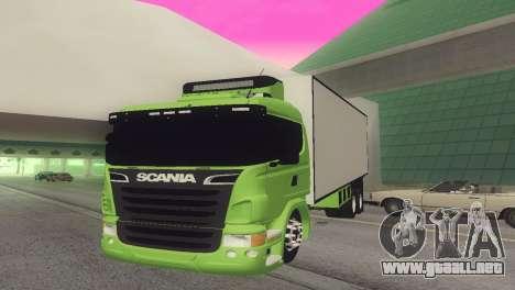 Scania 310 Bau para GTA San Andreas vista posterior izquierda
