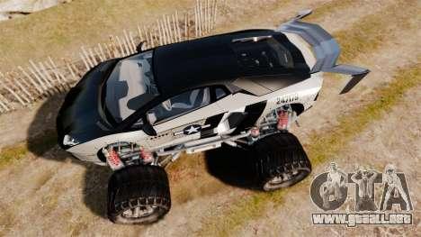Lamborghini Aventador LP700-4 [Monster truck] para GTA 4 visión correcta