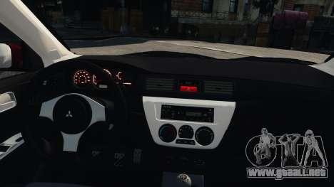 Mitsubishi Lancer Evolution IX para GTA 4 visión correcta