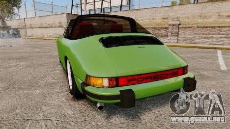 Porsche 911 Targa 1974 para GTA 4 Vista posterior izquierda
