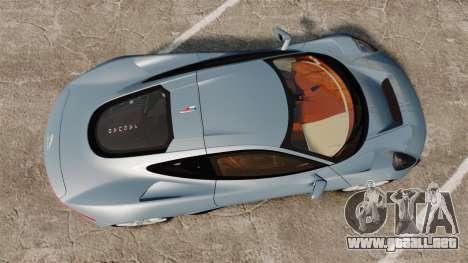 Jaguar C-X75 2014 [EPM] para GTA 4 visión correcta
