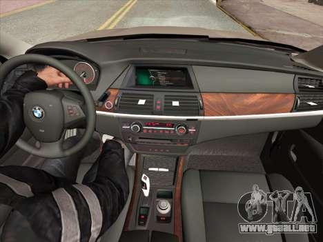 BMW X5M E70 2010 para GTA San Andreas interior