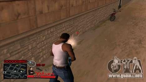 C-HUD Yakuza para GTA San Andreas sucesivamente de pantalla