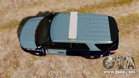 Ford Explorer 2013 MSP [ELS] para GTA 4 visión correcta