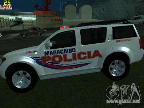 Nissan Pathfinder Polimaracaibo para GTA San Andreas left