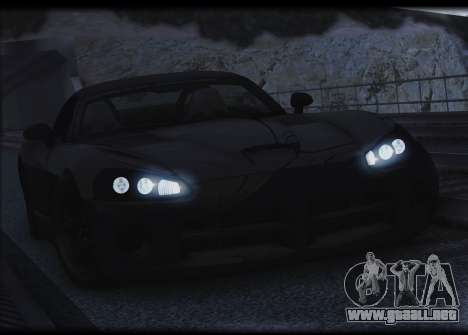 Dodge Viper SRT-10 para la vista superior GTA San Andreas