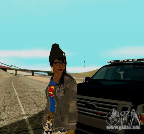 Girl Swagg para GTA San Andreas tercera pantalla